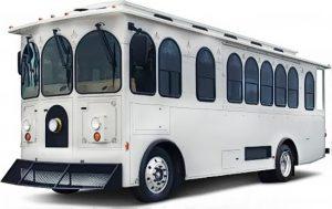 32 Passenger White Victorian Trolley